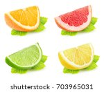 collection of isolated citrus... | Shutterstock . vector #703965031