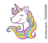 unicorn head vector... | Shutterstock .eps vector #703965589
