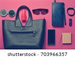 fashionable layout of women's... | Shutterstock . vector #703966357