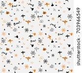 halloween seamless pattern   Shutterstock .eps vector #703966549