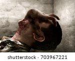 man possessed | Shutterstock . vector #703967221