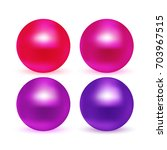 pink and purple tints glossy... | Shutterstock .eps vector #703967515