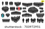 people icon set in trendy flat... | Shutterstock .eps vector #703972951