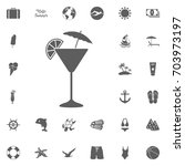 cocktail icons. hello summer...   Shutterstock .eps vector #703973197