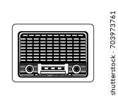 vintage radio icon image  | Shutterstock .eps vector #703973761