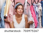 female model in casual clothes  ... | Shutterstock . vector #703975267