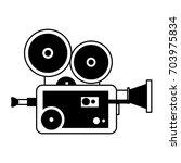 vintage film projector icon... | Shutterstock .eps vector #703975834