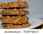 delicious homemade sweet treat. ...   Shutterstock . vector #703976017