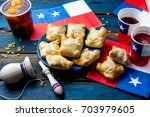 chilean independence day... | Shutterstock . vector #703979605