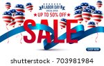 labor day sale promotion...   Shutterstock .eps vector #703981984