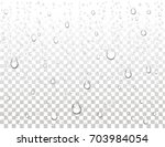 realistic pure water drops on... | Shutterstock .eps vector #703984054