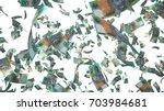 100 australian dollar  aud  ... | Shutterstock . vector #703984681