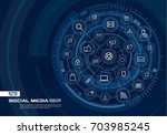 abstract social media... | Shutterstock .eps vector #703985245