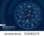 abstract marketing and seo... | Shutterstock .eps vector #703985275