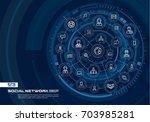 abstract social network... | Shutterstock .eps vector #703985281