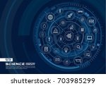 abstract science technology... | Shutterstock .eps vector #703985299