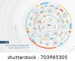 abstract education and learning ... | Shutterstock .eps vector #703985305