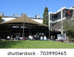 auckland   aug 25 2017 students ... | Shutterstock . vector #703990465