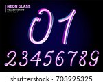 3d glass letters with night... | Shutterstock .eps vector #703995325