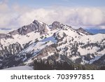 Tatoosh Mountain Range In Moun...