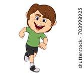 a boy running cartoon    Shutterstock . vector #703998925