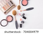 colourful make up eye shadow... | Shutterstock . vector #704004979