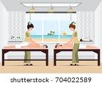 couple enjoying full body... | Shutterstock .eps vector #704022589