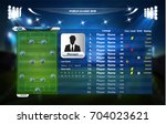 football or soccer playing... | Shutterstock .eps vector #704023621