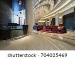luxury lobby interior.   Shutterstock . vector #704025469