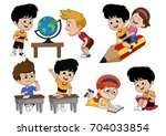 back to school.children's... | Shutterstock .eps vector #704033854