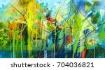 abstract colorful oil painting... | Shutterstock . vector #704036821