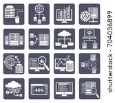 database and network icon set... | Shutterstock .eps vector #704036899