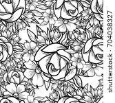 abstract elegance seamless... | Shutterstock . vector #704038327