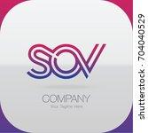 logo letter combinations s  o... | Shutterstock .eps vector #704040529