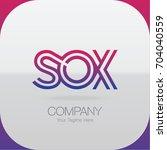 logo letter combinations s  o... | Shutterstock .eps vector #704040559