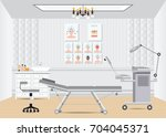 cosmetology beauty salon... | Shutterstock .eps vector #704045371