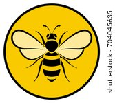 illustration of bee circle...   Shutterstock .eps vector #704045635