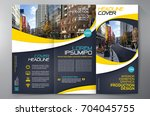 business brochure. flyer design.... | Shutterstock .eps vector #704045755