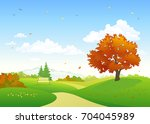 vector cartoon drawing of a... | Shutterstock .eps vector #704045989