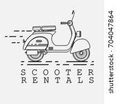 scooter rental service logotype.... | Shutterstock .eps vector #704047864