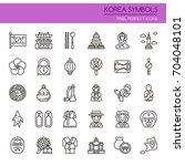 Korea Symbols   Thin Line And...