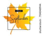 Hello September Calligraphy...