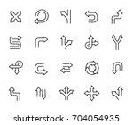 premium set of arrow and... | Shutterstock .eps vector #704054935