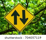 two way sign | Shutterstock . vector #704057119