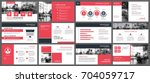 red presentation templates and... | Shutterstock .eps vector #704059717
