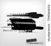 tire tracks print texture.... | Shutterstock .eps vector #704066614