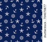 blue marine pattern  vector... | Shutterstock .eps vector #704070877