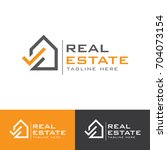 real estate g letter  logo | Shutterstock .eps vector #704073154