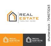 real estate g letter  logo | Shutterstock .eps vector #704073265