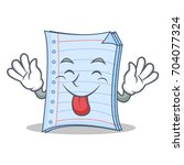tongue out notebook character... | Shutterstock .eps vector #704077324